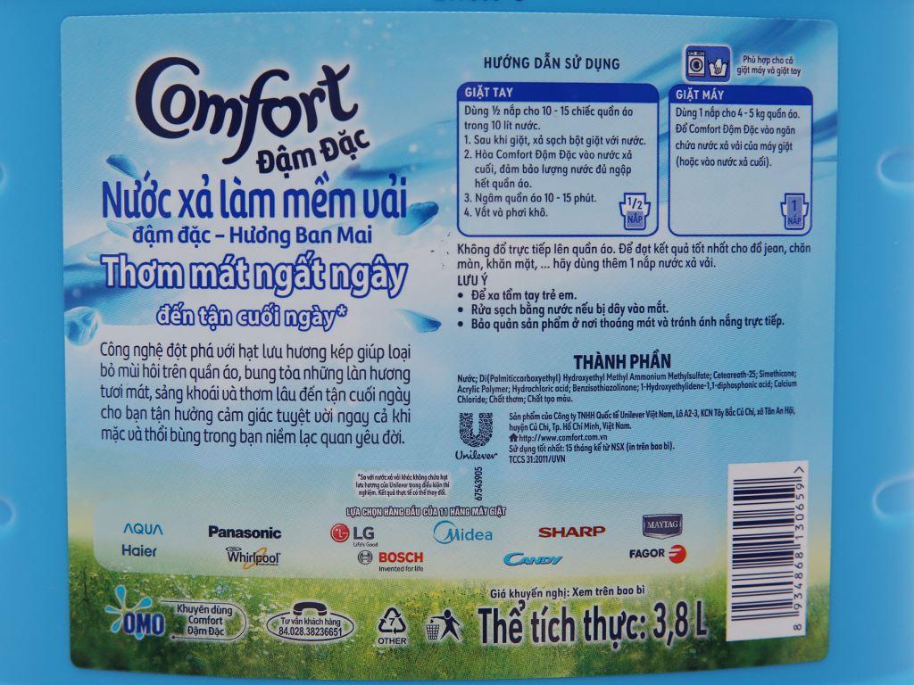 Nước xả vải Comfort hương ban mai can 3.8 lít 4