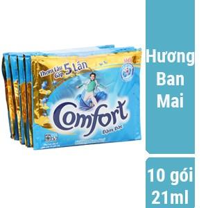 Nước xả vải Comfort Đậm đặc hương Ban mai gói 21ml (10 gói)
