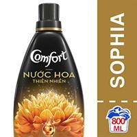 Nước xả vải Comfort hương Nước hoa thiên nhiên Sophia chai 800ml