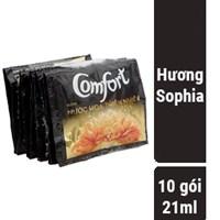 Nước xả vải Comfort hương Nước hoa thiên nhiên Sophia gói 21ml (10 gói)