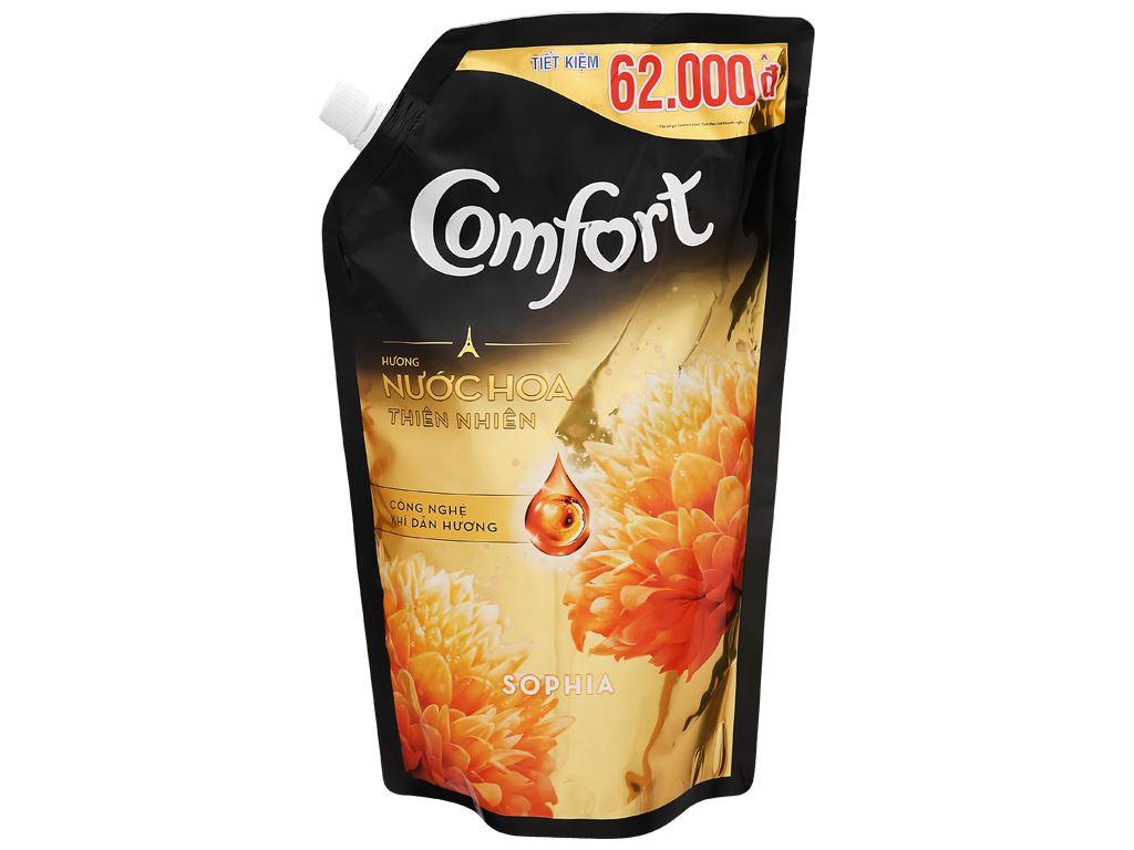 Nước xả vải Comfort hương nước hoa thiên nhiên sophia túi 1.5 lít 1
