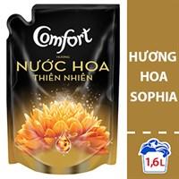 Nước xả vải Comfort hương Nước hoa thiên nhiên Sophia túi 1,6lít