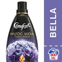 Nước xả vải Comfort hương Nước hoa thiên nhiên Bella chai 800ml