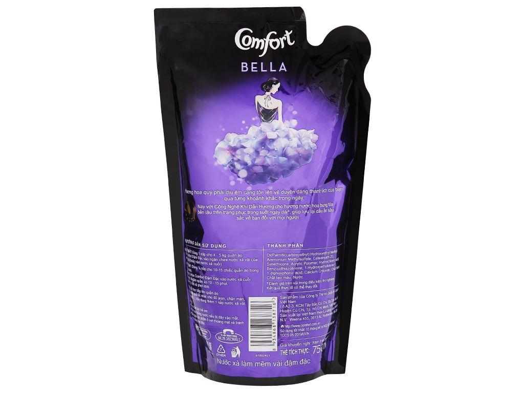 Nước xả vải Comfort hương nước hoa Bella túi 750ml 3