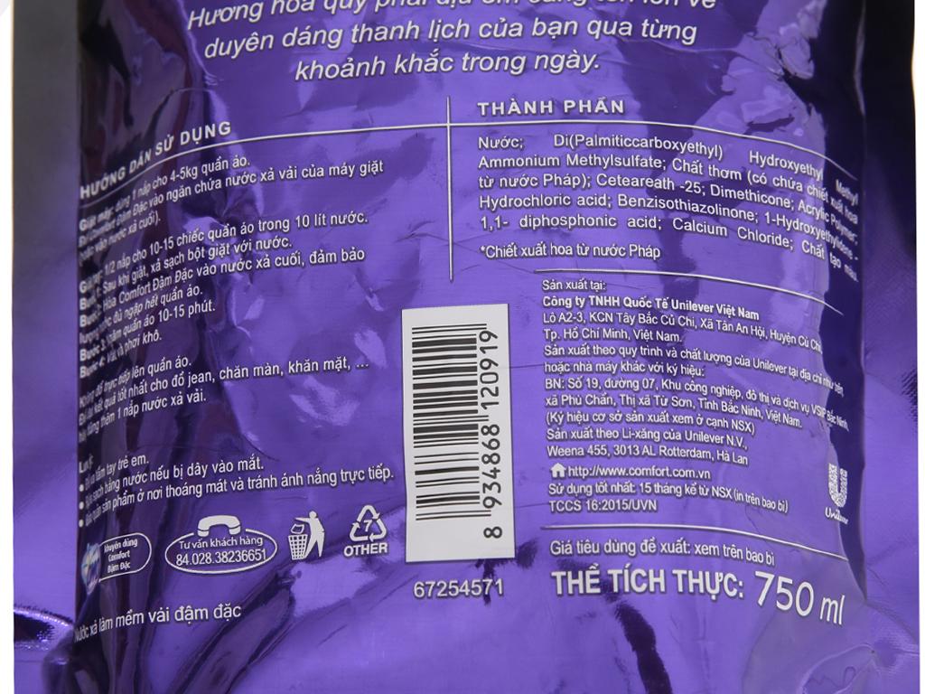 Nước xả vải Comfort nước hoa Bella túi 750ml 5