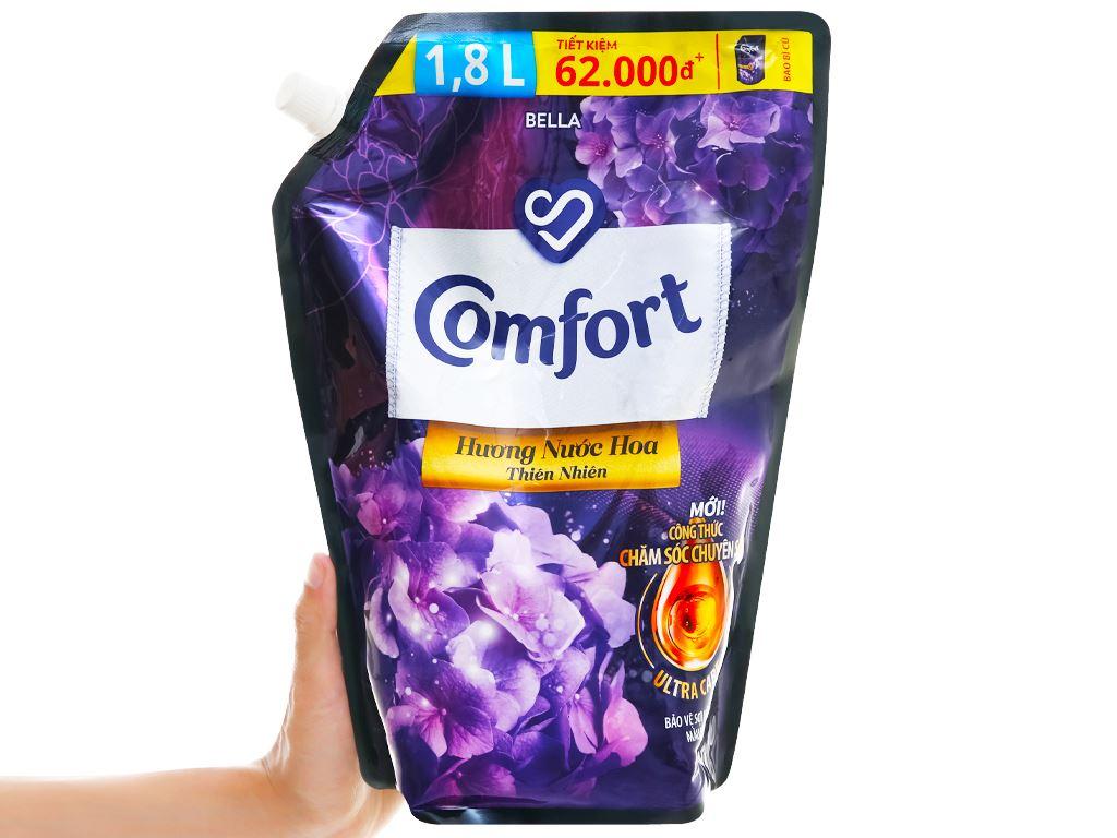 Nước xả vải Comfort hương nước hoa thiên nhiên bella túi 1.8 lít 4