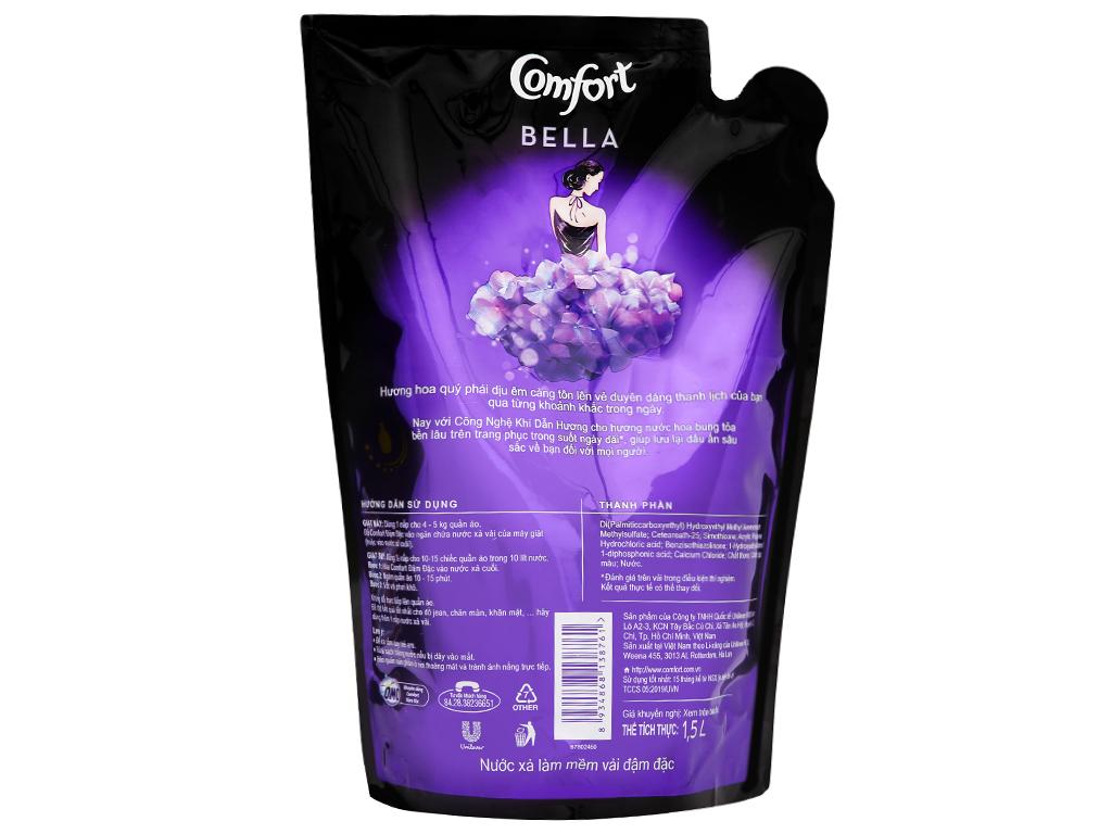 Nước xả vải Comfort hương nước hoa Bella túi 1.6 lít 3