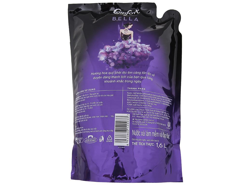 Nước xả vải Comfort nước hoa Bella túi 1.6L 3