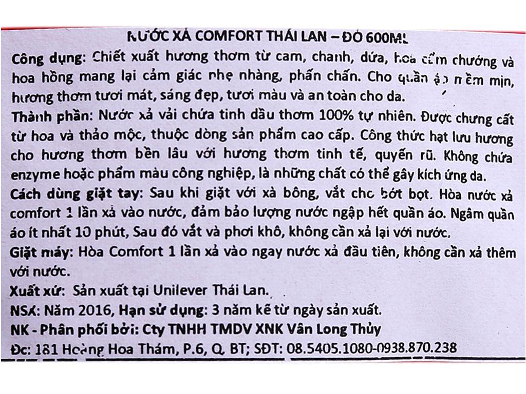 Comfort Thái Lan - Đỏ túi 600ml 3