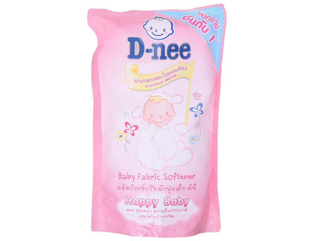 Nước xả vải cho bé D-nee hồng túi 600ml 2