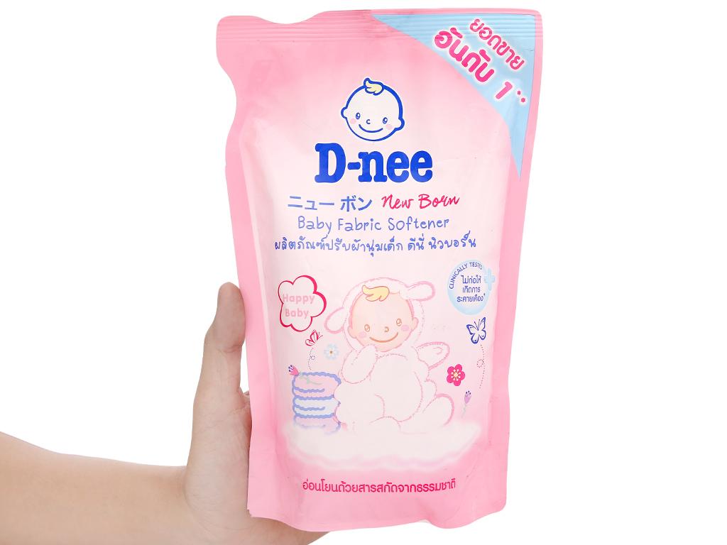 Nước xả vải cho bé D-nee hồng túi 600ml 4
