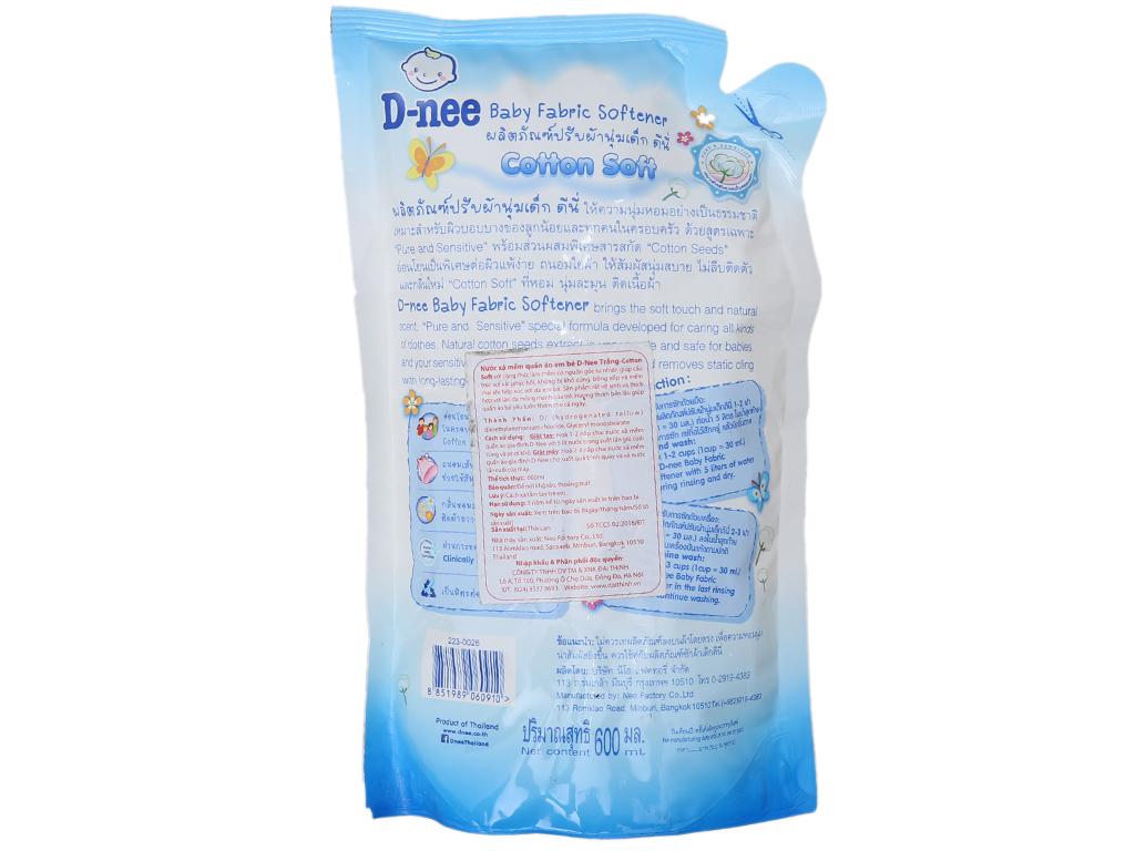 Nước xả vải cho bé D-nee mềm mại, chống nhăn cho da nhạy cảm 600ml 3