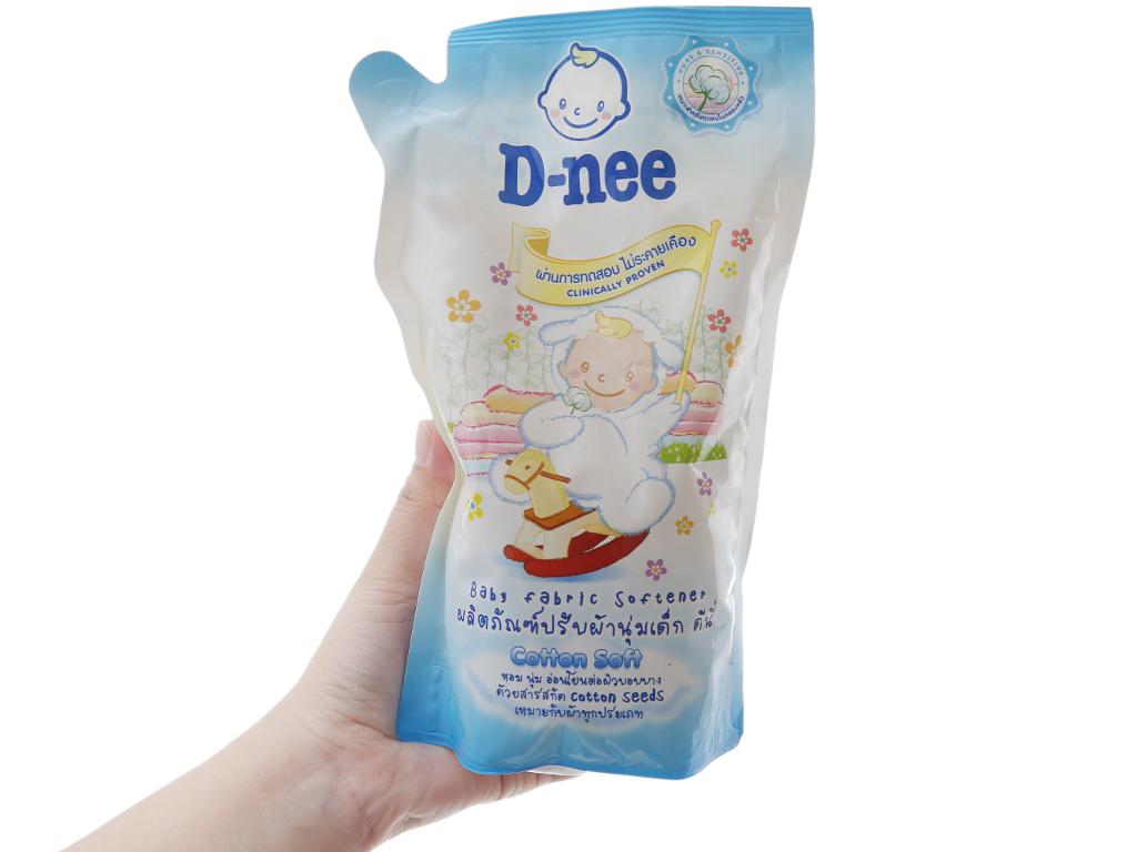 Nước xả vải cho bé D-nee Soft túi 600ml 4