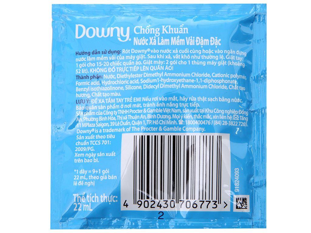 Nước xả vải Downy chống khuẩn dây 9 gói x 22ml 3