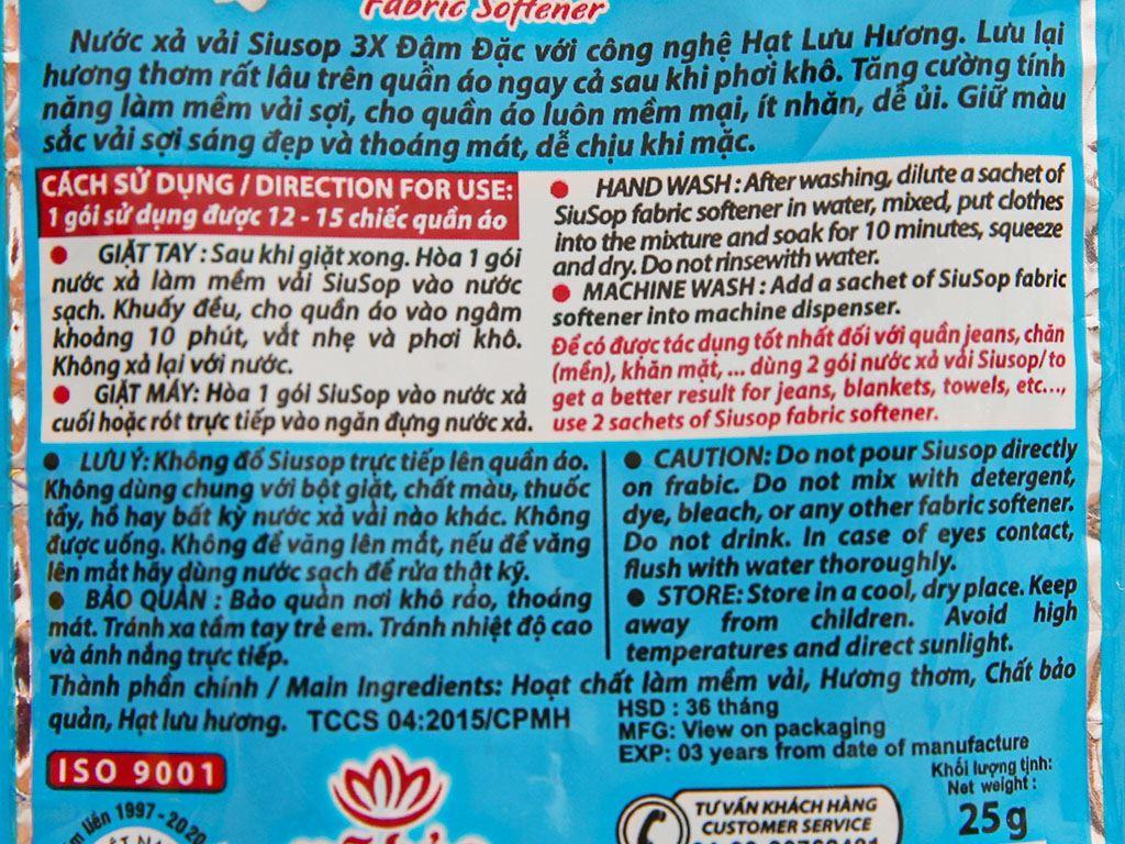 10 gói Nước xả vải Siusop hương hoa lài 25g 4