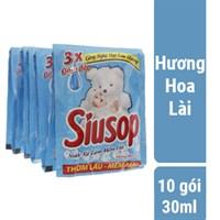 Nước xả vải Siusop hương Hoa lài gói 30ml (10 gói)