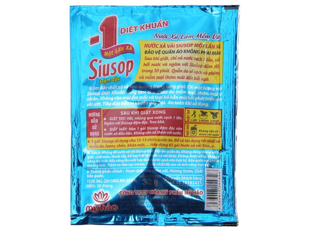 10 gói nước xả vải Siusop một lần xả diệt khuẩn 30ml 4