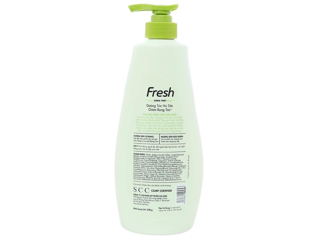 Dầu gội Fresh dưỡng tóc hư tổn giảm rụng tóc 550g 2