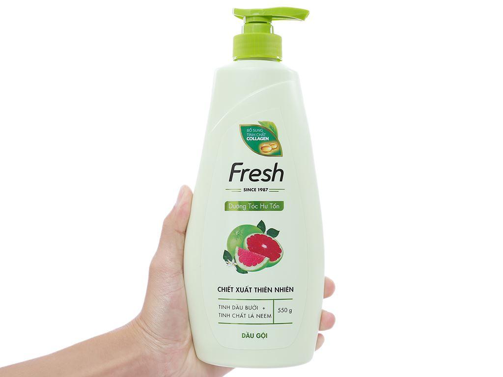 Dầu gội Fresh dưỡng tóc hư tổn giảm rụng tóc 550g 3