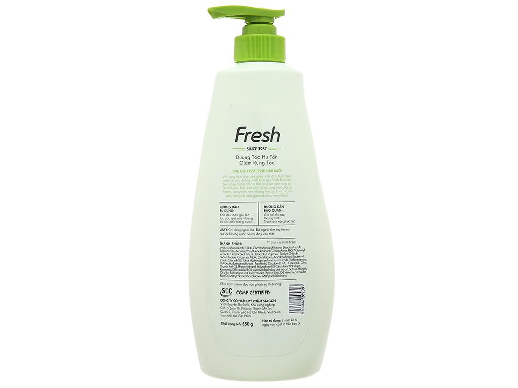 Dầu gội Fresh dưỡng tóc hư tổn và ngăn rụng hương bưởi 550g 3