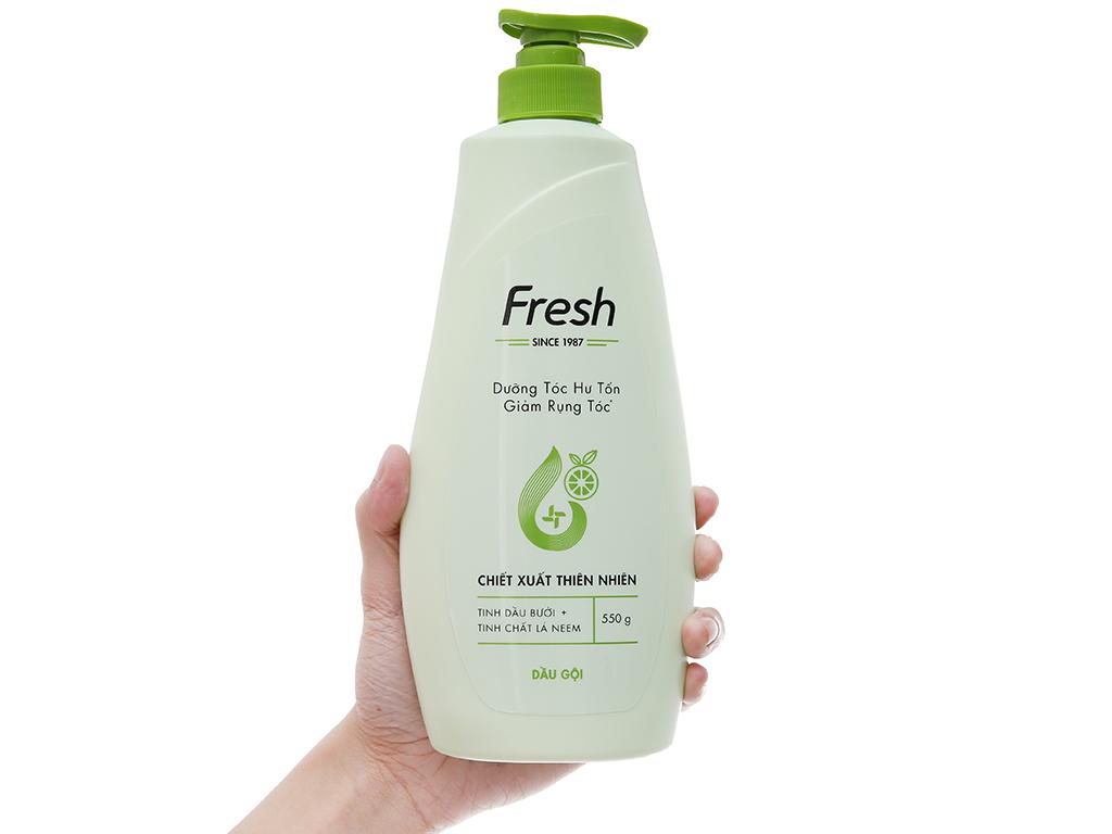 Dầu gội Fresh dưỡng tóc hư tổn và ngăn rụng hương bưởi 550g 4