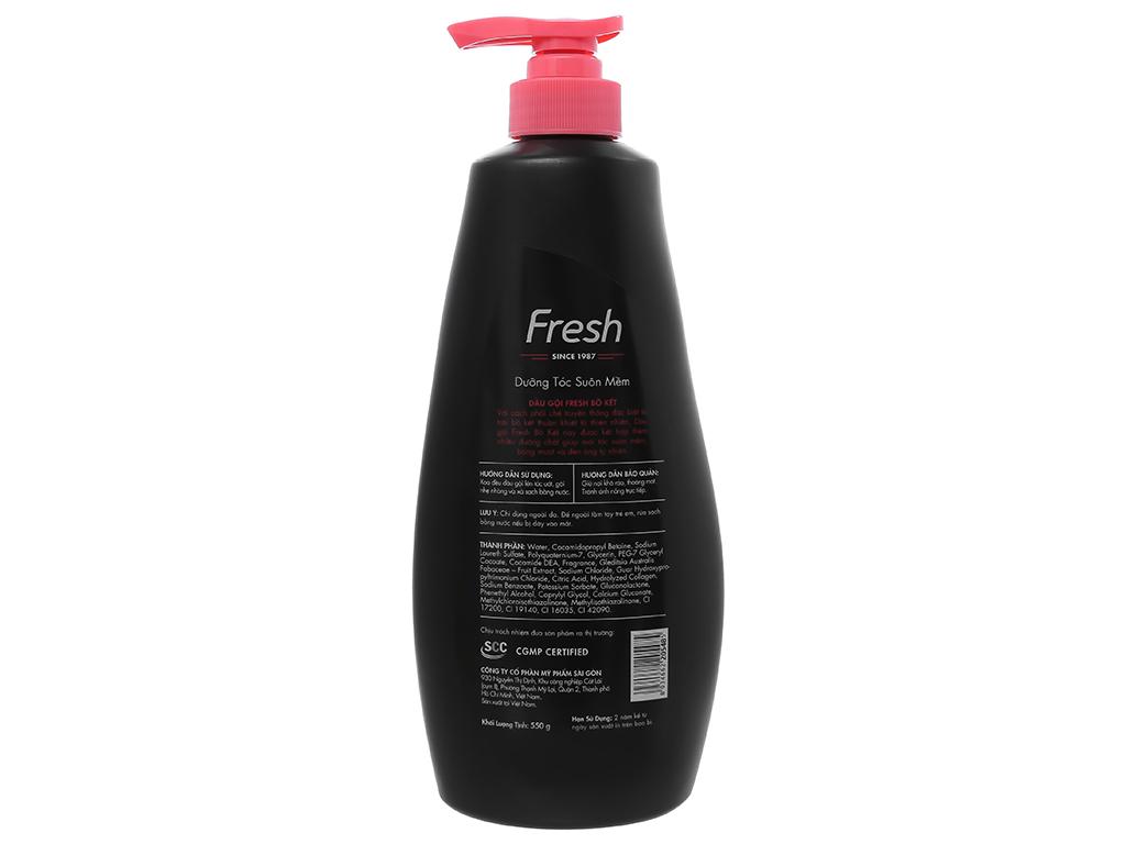 Dầu gội Fresh bồ kết dưỡng tóc suôn mềm 550g 2
