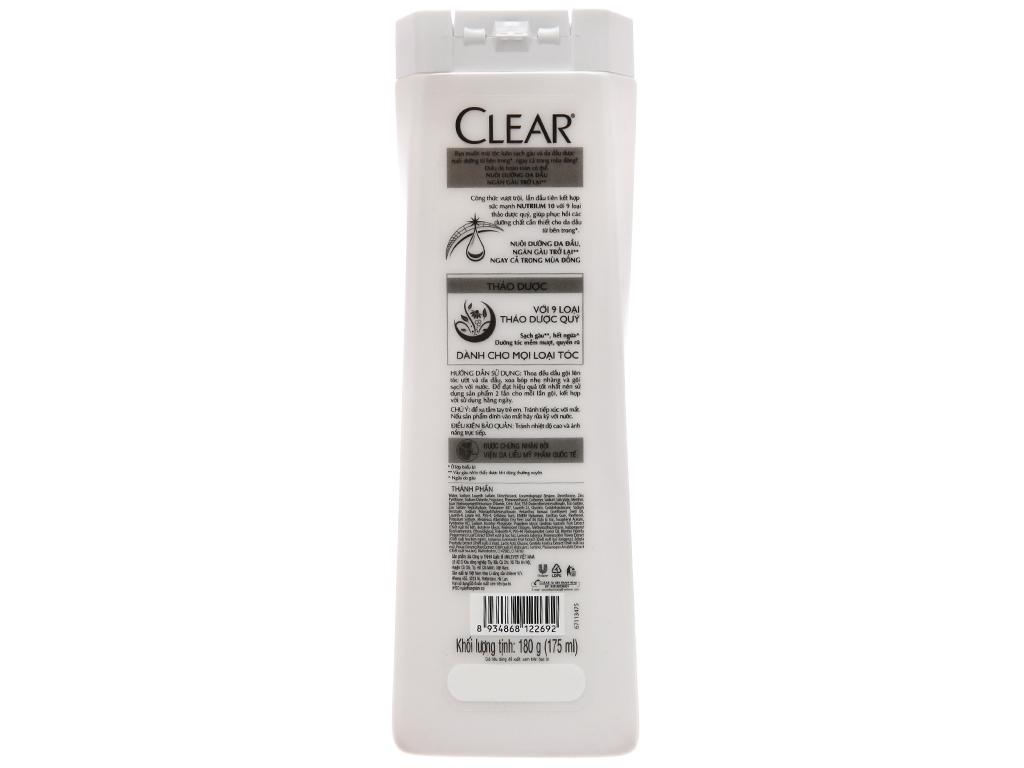 Dầu gội sạch gàu Clear thảo dược 180g 3