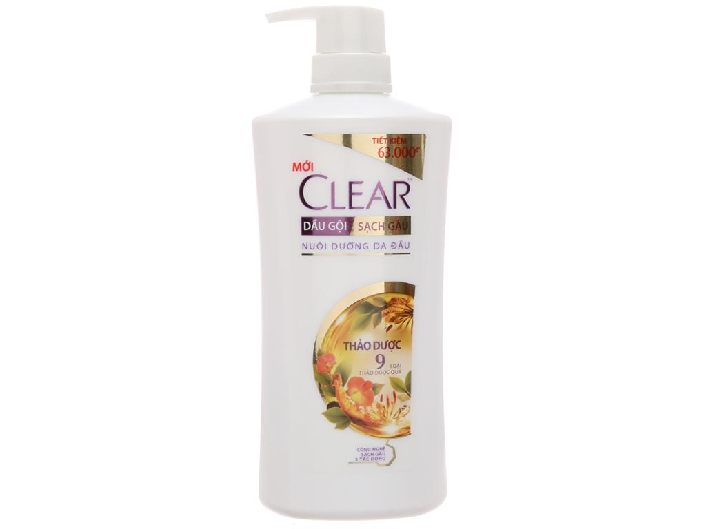 Dầu gội sạch gàu Clear thảo dược 631ml 2
