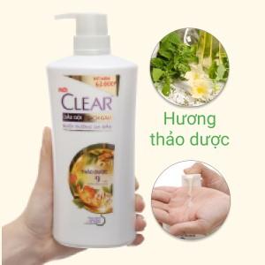 Dầu gội đầu Clear Botanique 9 thảo dược quý cho da đầu yếu sạch gàu nhờn ngứa chai 630g