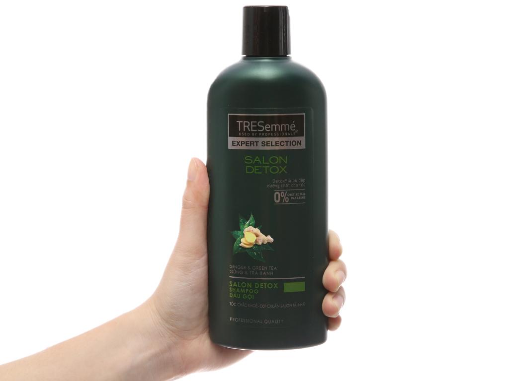 Dầu gội TRESemmé Salon Detox gừng và trà xanh 340g 4