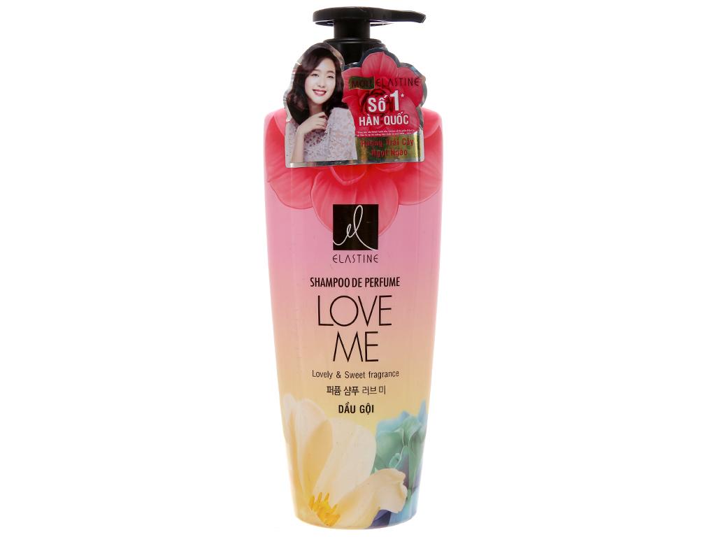 Dầu gội nước hoa Elastine Love Me óng mượt chắc khoẻ 600ml 2