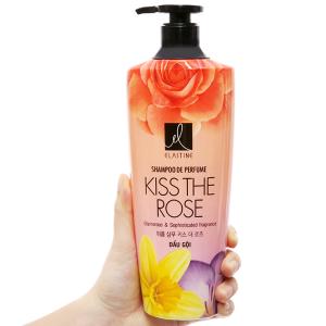 Dầu gội nước hoa Elastine Kiss The Rose óng mượt chắc khoẻ 600ml
