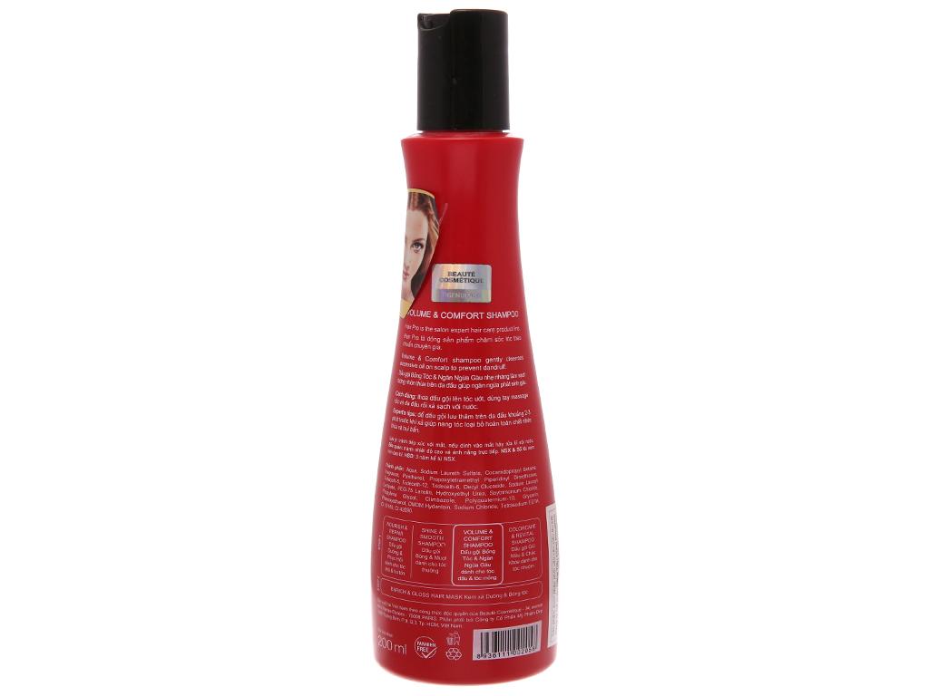 Dầu gội L'ovité Paris Pro bồng tóc & ngăn ngừa gàu 200ml 3