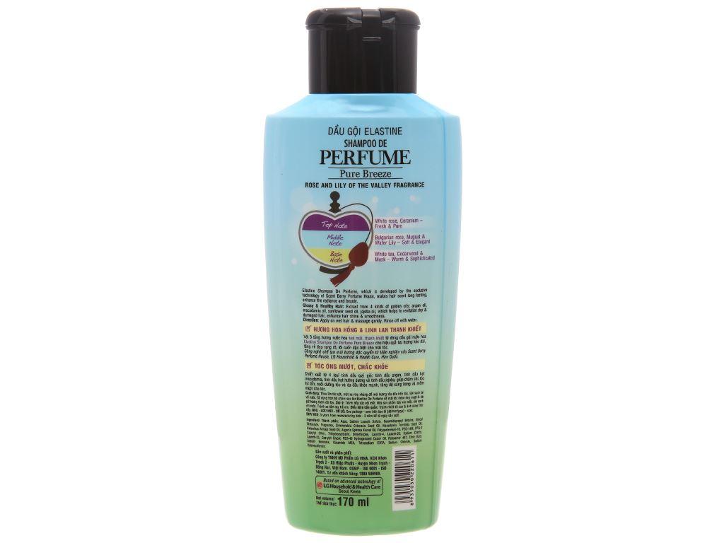 Dầu gội nước hoa Elastine Pure Breeze óng mượt chắc khoẻ 170ml 2