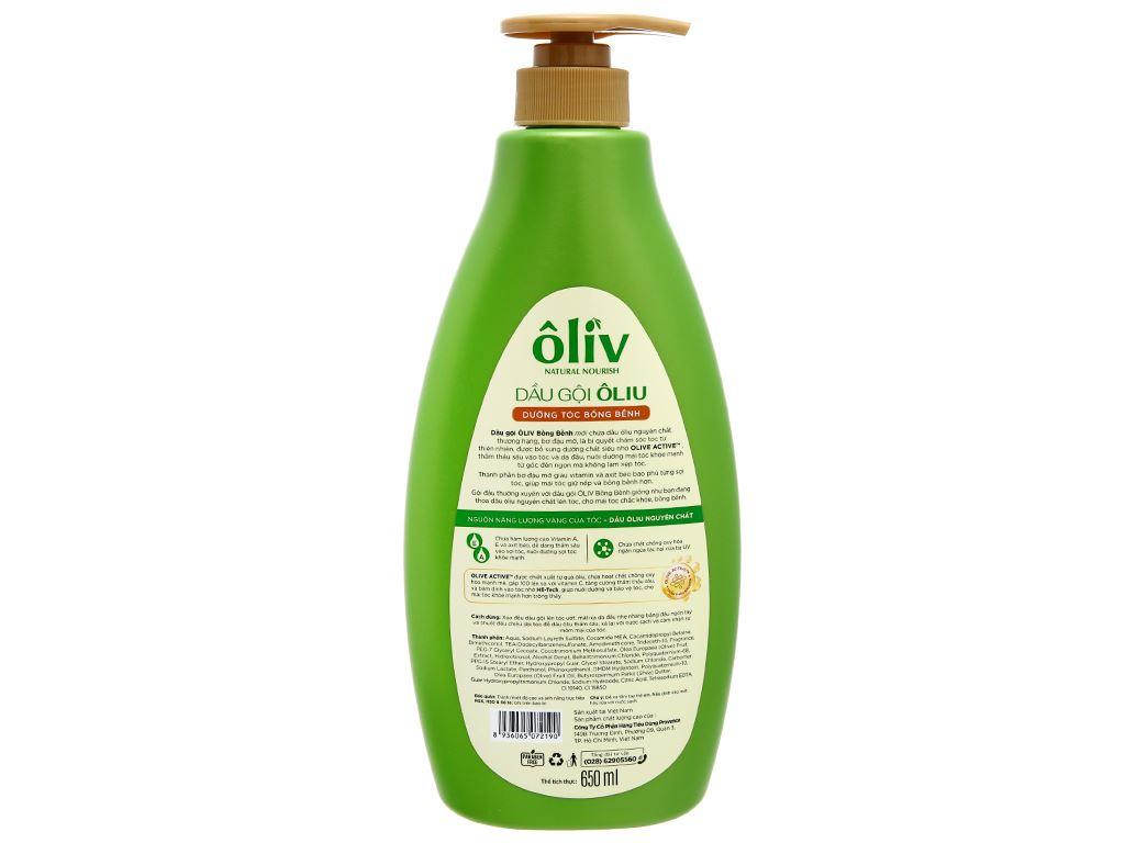Dầu gội Ôliv dưỡng tóc bồng bềnh 650ml 2