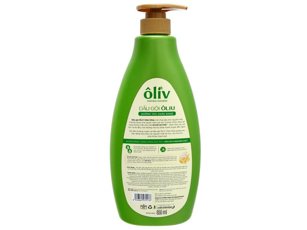 Dầu gội ôliu Ôliv dưỡng tóc chắc khoẻ 650ml 20