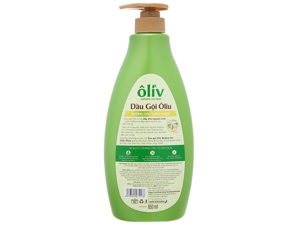 Dầu gội Ôliv dưỡng tóc chắc khoẻ 650ml 16