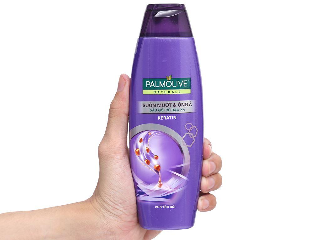 Dầu gội có dầu xả Palmolive suôn mượt óng ả 180ml 8