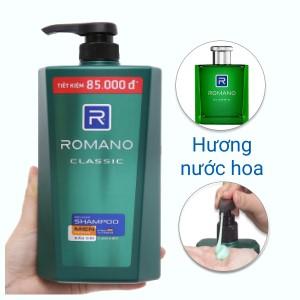 Dầu gội cao cấp Romano Classic 900g