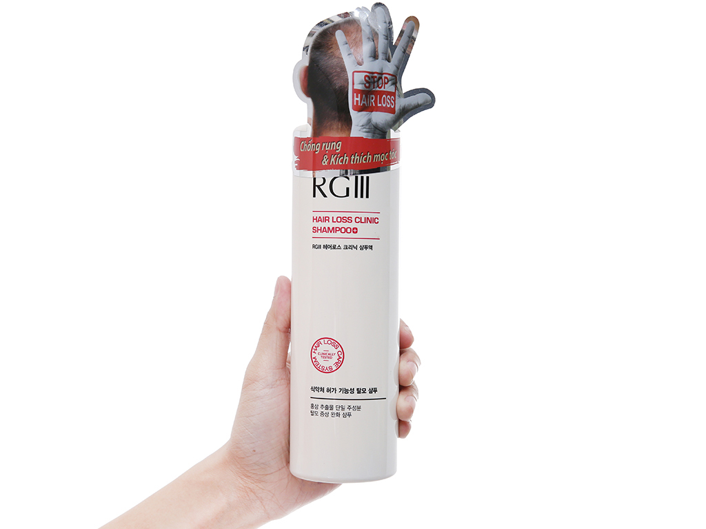 Dầu gội RGIII chống rụng tóc tinh chất Hồng Sâm 520ml 4
