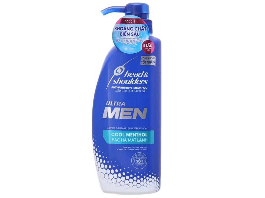 Dầu gội sạch gàu Head & Shoulders Ultra Men bạc hà mát lạnh 550ml 2