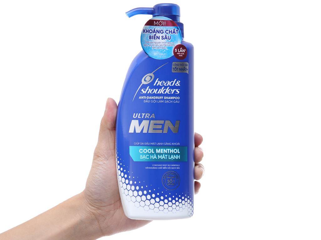 Dầu gội sạch gàu Head & Shoulders Ultra Men bạc hà mát lạnh 550ml 4