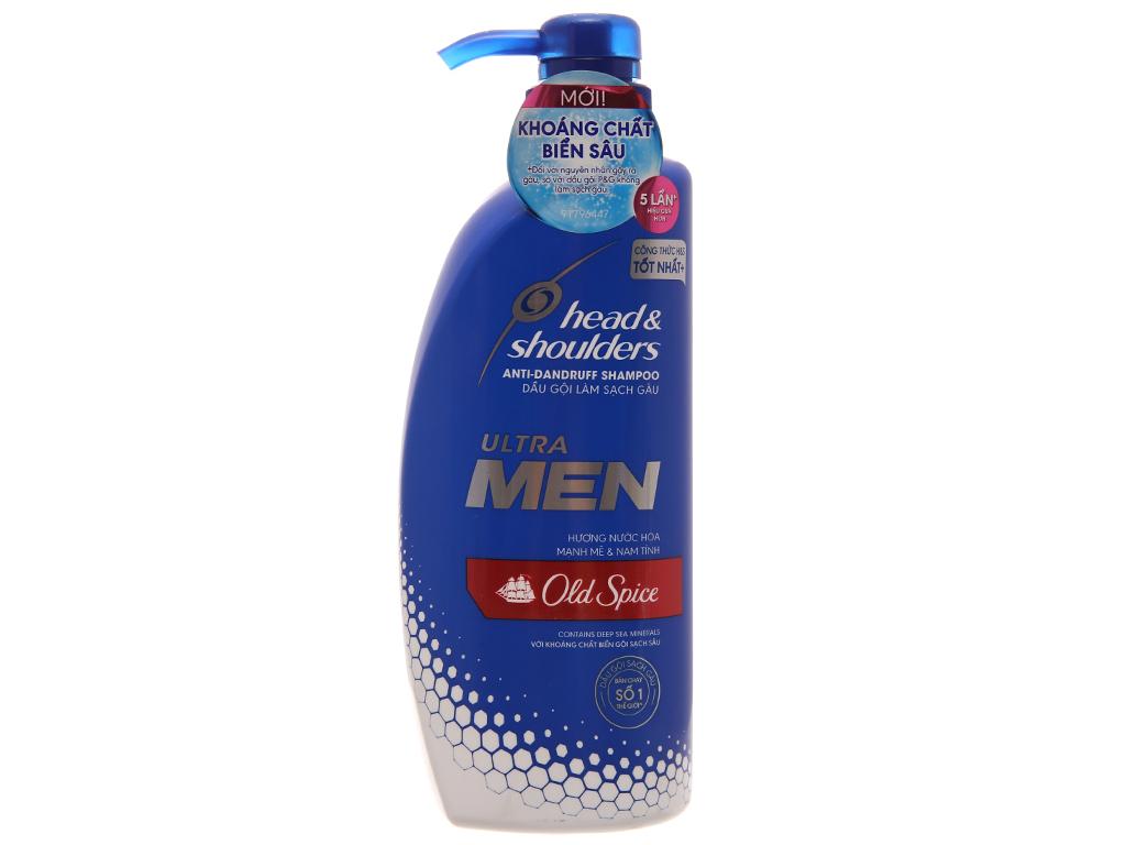 Dầu gội Head & Shoulders Ultra Men Old Spice hương nước hoa 550ml 2
