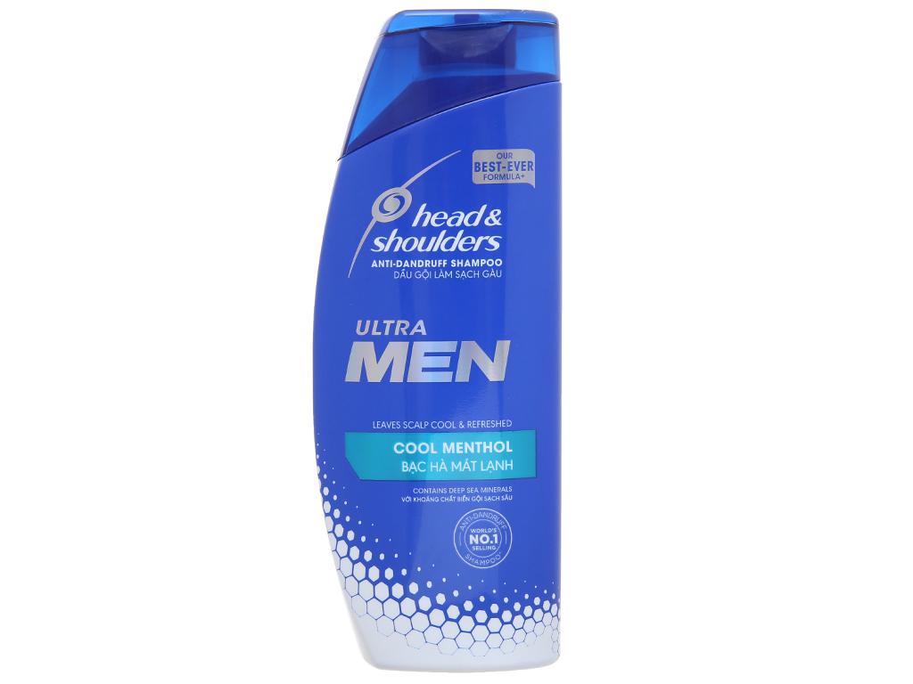 Dầu gội Head & Shoulders Ultra Men bạc hà mát lạnh 315ml 2