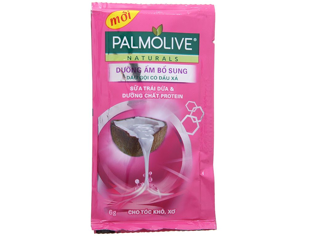 Dầu gội Palmolive dưỡng ẩm bổ sung sữa dừa tươi mát 6g x 12 gói 2