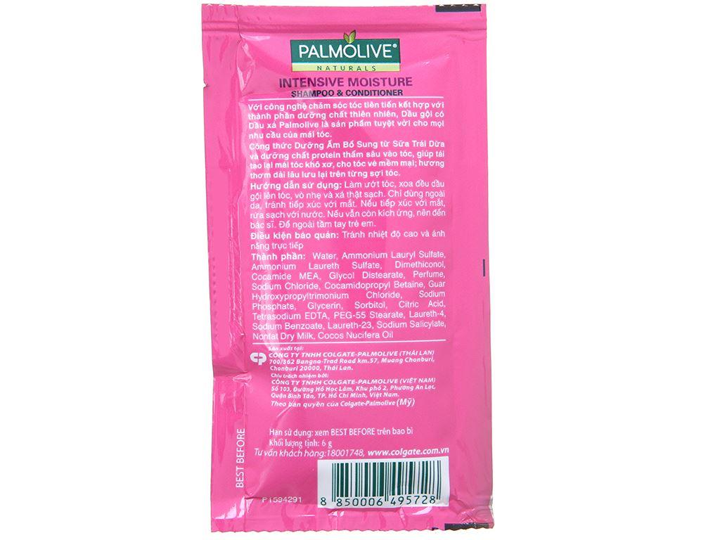 Dầu gội Palmolive dưỡng ẩm bổ sung sữa dừa tươi mát 6g x 12 gói 3