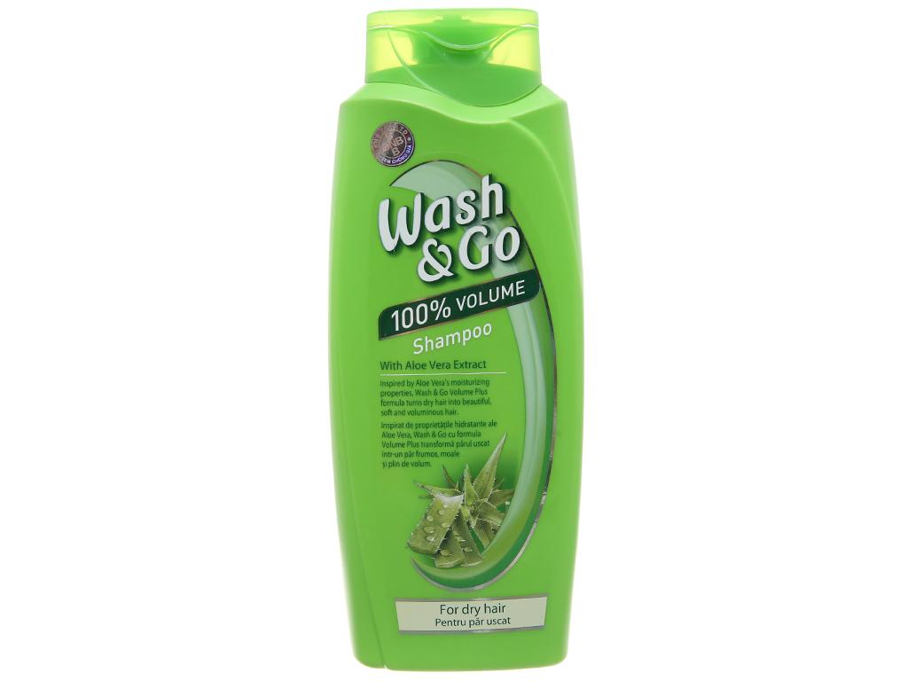 Dầu gội lô hội Wash&Go dành cho tóc khô 750ml 2
