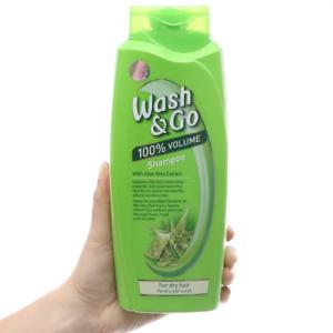 Dầu gội Wash&Go nha đam cho tóc khô nước hoa với 3 tầng hương 750ml