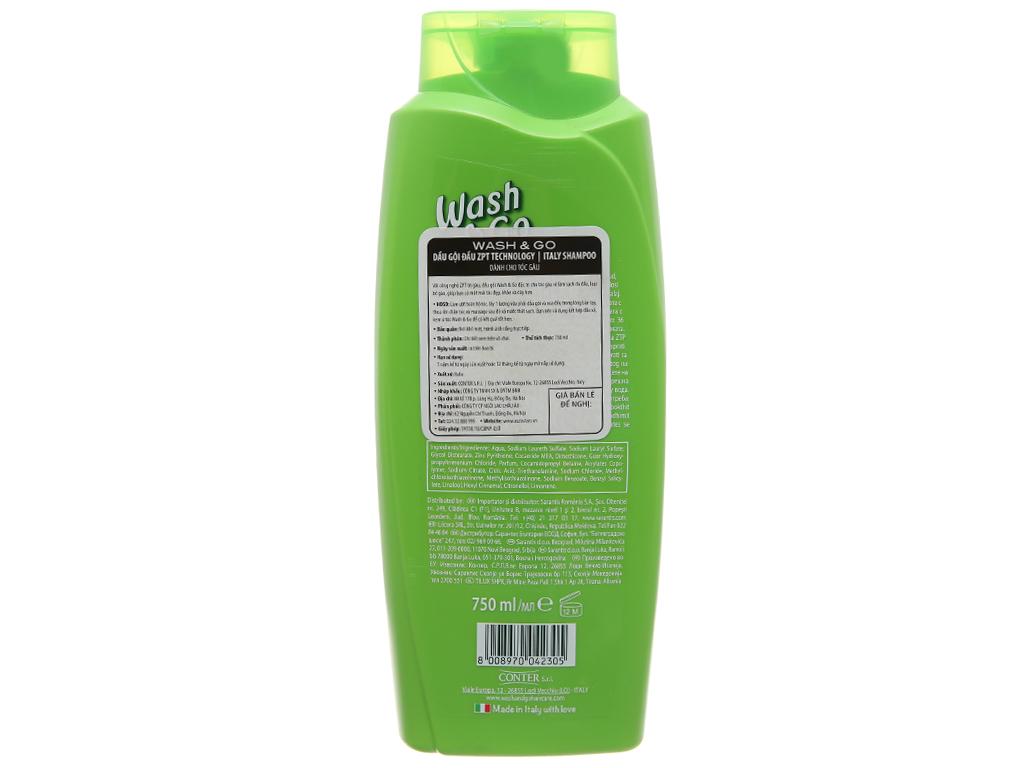 Dầu gội ZPT Technology Wash&Go dành cho tóc gàu 750ml 3