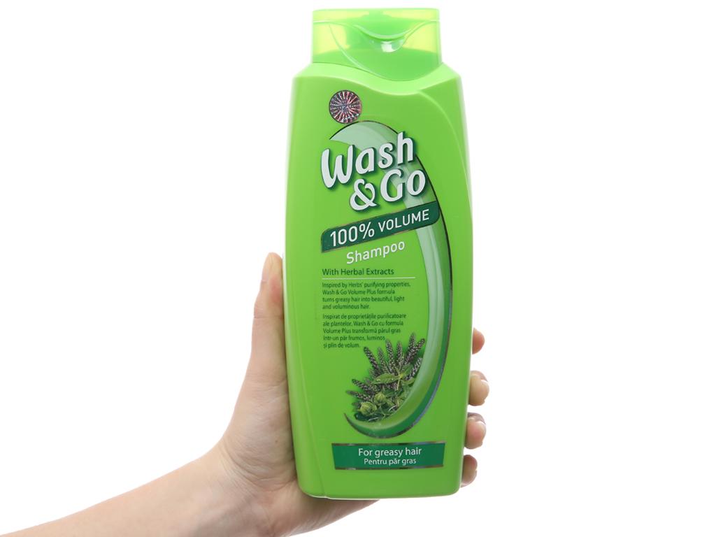 Dầu gội thảo mộc Wash&Go dành cho tóc nhờn 750ml 4